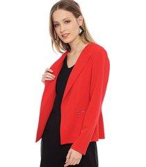 blazer ash lisa rojo - calce regular