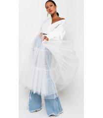 akira for life tulle long sleeve maxi dress