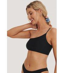 na-kd swimwear bikinitopp med tunna band - black