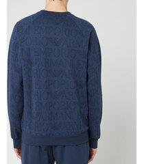 emporio armani men's crewneck sweatshirt - blue - s