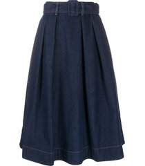tommy hilfiger a-line denim skirt - blue