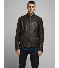 chaqueta jack & jones jjeliam jacket marrón - calce regular