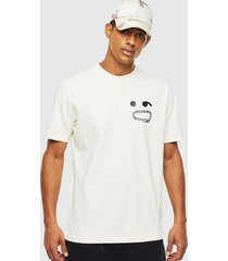 polera t just t14 t shirt 129a blanco diesel