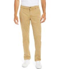 mavi jeans edward slim straight leg chinos, size 34 x 34 in latte sateen at nordstrom