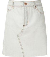 eva white blue denim shorts