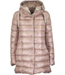 herno black down jacket with hood