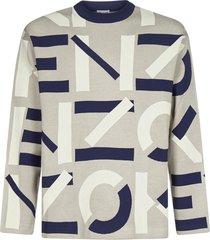 kenzo logo-motif cotton-blend sweater