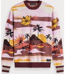 scotch & soda scenic jacquard sweater