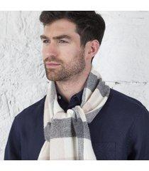 foxford lambswool block check scarf