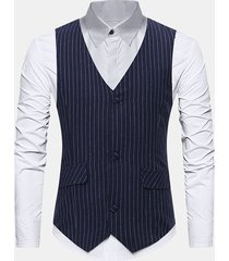business formal stripes sottile gilet per uomo