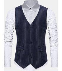 business formal stripes sottile gilet per uomo