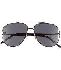 men's dior homme diorscale 58mm polarized aviator sunglasses - black