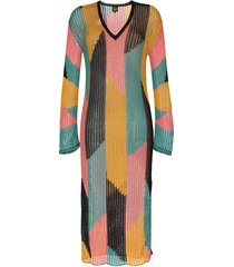a peace treaty serreno cotton kaftan dress - black
