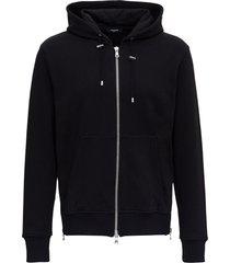 balmain hoodie with zip and back logo
