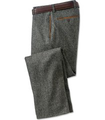 county donegal tweed pants, charcoal, 32w x 30l