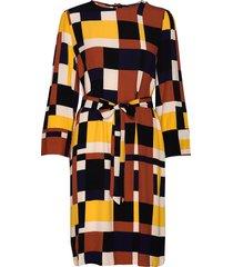 slfhadley-tunni 7/8 aop short dress b jurk knielengte multi/patroon selected femme