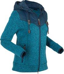 giacca in pile con cappuccio (blu) - bpc bonprix collection