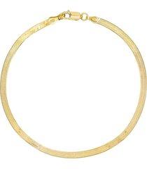 adina's jewels herringbone anklet in gold at nordstrom