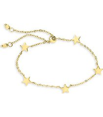 14k gold vermeil sterling silver multi-star slider bolo bracelet