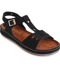 priceshoes sandalia confort dama 162406negro