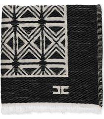 elisabetta franchi jacquard cape with kilim design