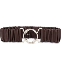 erika cavallini ruched waist belt - brown