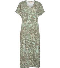 gumikb printed dress dresses everyday dresses grön karen by simonsen