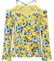 maglia con pizzo all''uncinetto (giallo) - bodyflirt boutique