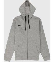 chaqueta gris-negro nike team club 19