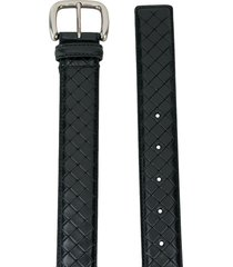 bottega veneta woven detail belt - black