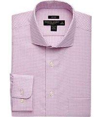 pronto uomo berry dress shirt