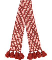 bode logo tassel scarf - red