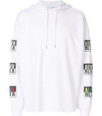 1017 alyx 9sm printed hoodie - white