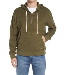 outerknown hightide men's half-zip hoodie, size small in mangrove at nordstrom