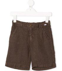 il gufo plain chino trousers - brown