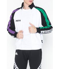 kappa track jacket auth bebek tröjor vit/svart