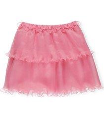 alberta ferretti pleated and ruffled skirt