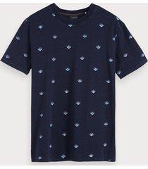 scotch & soda indigo t-shirt