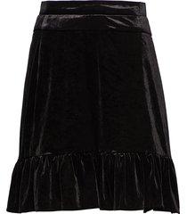 emma velvet kort kjol svart line of oslo