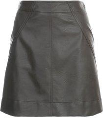 philosophy di lorenzo serafini short faux leather skirt