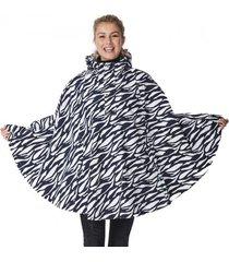 happyrainydays poncho poncho cape marit zebra midnight off white