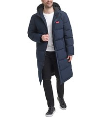 levi's men's quilted extra long parka jacket