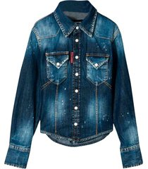 dsquared2 dark denim shirt