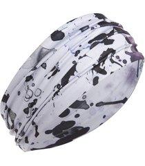 zella studio lite wide headband in blue icelandic texture print at nordstrom