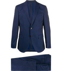 boss two piece formal suit - blue