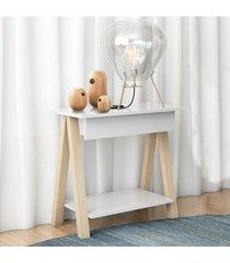 mesa cavalete vintage natural branco casah - branco - dafiti