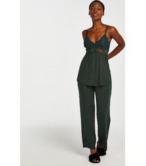 hunkemöller pyjamasset i spets vera grön