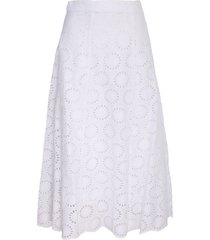 michael kors sangallo lace cotton midi skirt