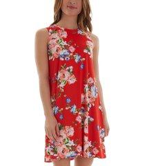 bcx juniors' floral-print a-line dress