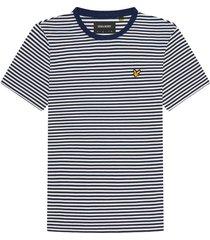 t-shirt gestreept donkerblauw